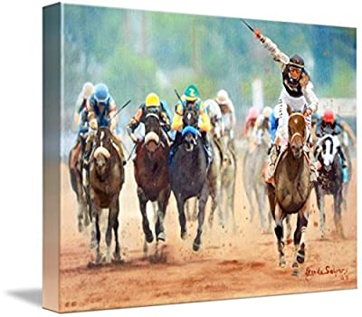 Wall Art Print entitled 135 Kentucky Derby by Brenda Salyers