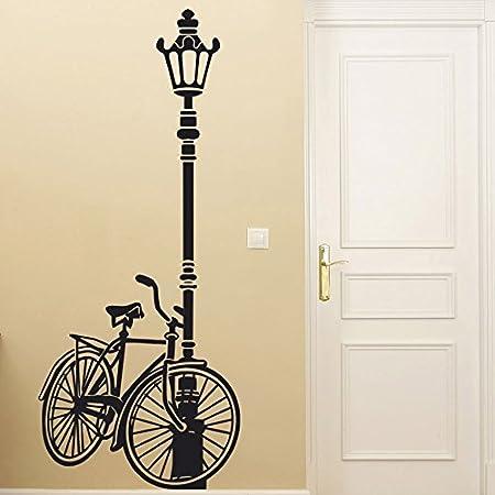IDEAVINILO Vinilo Decorativo Bicicleta apoyada en una farola ...