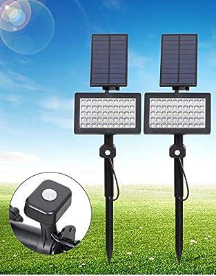 XNCH Proyectores solares LED, reflectores para Exteriores 2 en 1 ...