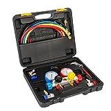 Raomdityat 4 Way AC Diagnostic Manifold Gauge Set Ideal For R410A R22 R134A HVAC