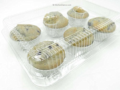 6 Cell Clear Locking Hinged Large Cupcake/Muffin and Bakery Containers #CPC-76 (150) by Inline Plastics (Image #6)