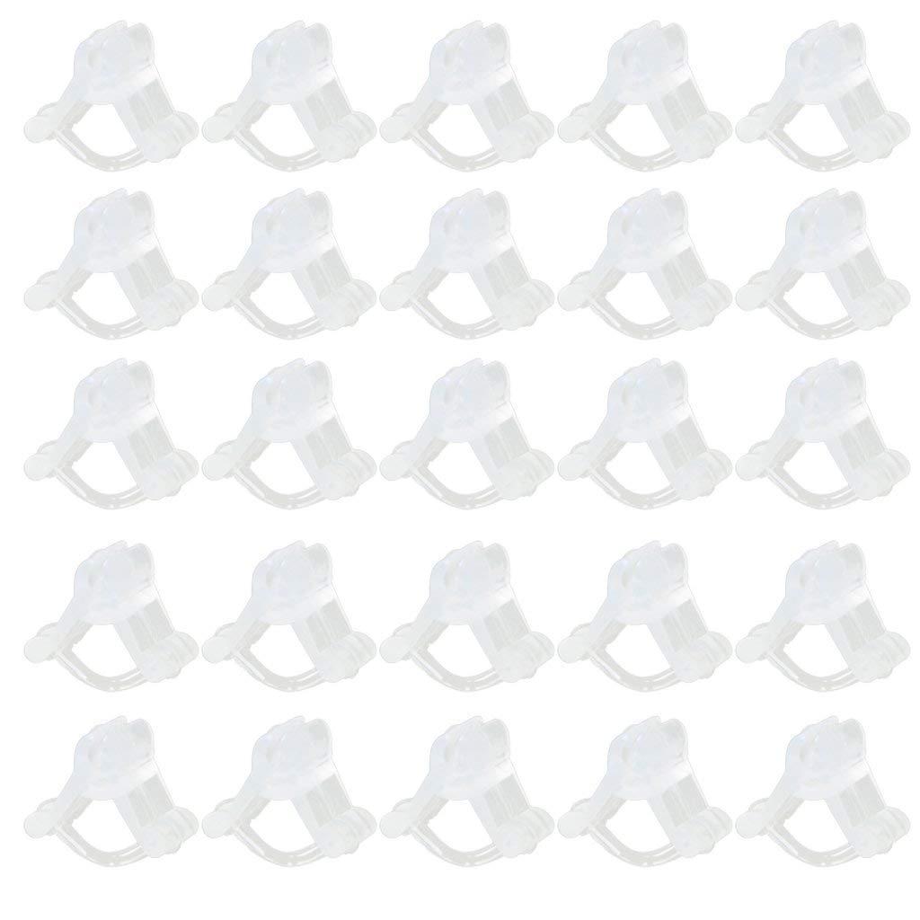Ndier 100Stk Gartenarbeit Pflanze Blume Unterstützung Fixing Verpflanzen Clips 2.2 4.5mm Weiß Garten dekor