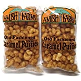 Amish Farms Corn Puffs Old Fashioned Caramel Puffies, 9 Oz. Bags (Set of 2)