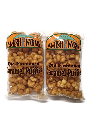 Amish Farms Corn Puffs Old Fashioned Caramel Puffies, 9 Oz. Bags (Set of 2) ()