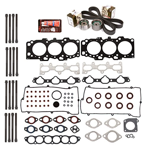 Evergreen HSHBTBK5029L Head Gasket Set Head Bolts Timing Belt Kit Fits 04-09 Hyundai Sonata Kia DOHC - 4 Hyundai Sonata Cylinder