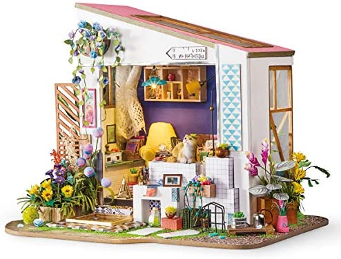Girl Cat Cats Miniature Dollhouse Doll House Picture