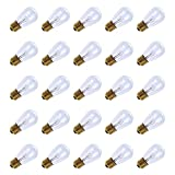 Tools & Hardware : Pack of 20pcs 11 Watt S14 Warm Replacement Glass Bulbs - E26 Medium Candelabra Screw Base Light Bubs for Commercial Grade Outdoor Patio Vintage String Lights 16-Gauge Wiring