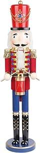Jeco 24 Inch Red Nutcracker Drummer Soldier