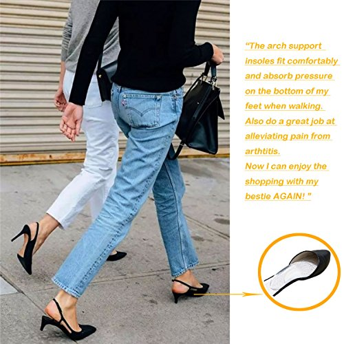 Arch Support for Flat Feet & Plantar Fasciitis, Gel Shoe Inserts Relieve Foot Pain for Women & Men (2 Pairs) by Gilife (Image #6)
