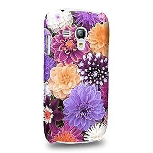 Case88 Premium Designs Art Flower Dahilas Blossom Purple Dahlias Pattern Carcasa/Funda dura para el Samsung Galaxy S3 mini (No Normal S3 !)