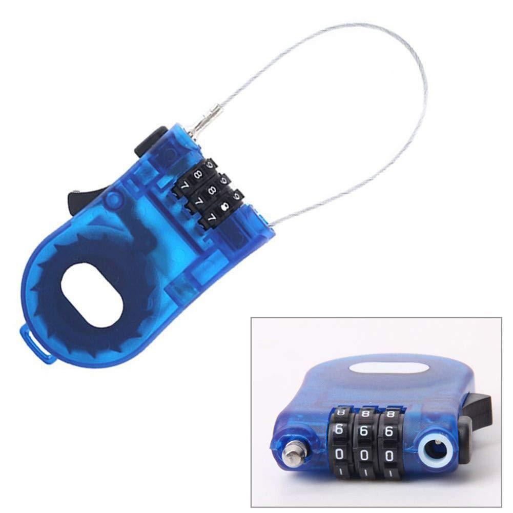 xiegons0 Cerradura de Cable Mini Piezas de Bicicleta Seguridad Cable Extensible C/ódigo de 3 d/ígitos Candado Cuerda para Anti Robo Ski Long Roller Pram Password