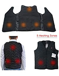 Heated Vest Size Adjustable 7.4V Battery Electric Warm Vest For Outdoor Hiking Camping