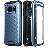 Galaxy S7 Edge Case, Clayco [Hera Series] Full-body Rugged Case with Built-in Screen Protector for Samsung Galaxy S7 Edge (2016 Release) (Blue)