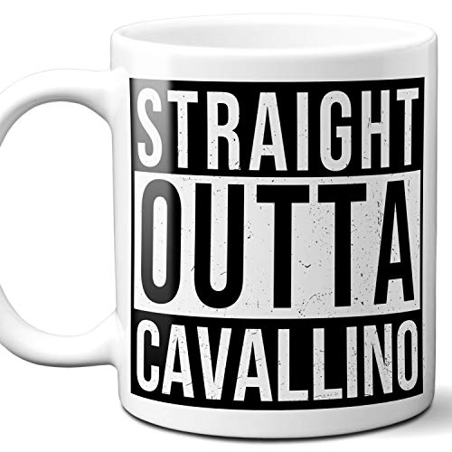Straight Outta Cavallino Italy Souvenir Gift Coffee Mug. Unique I Love Italian Italia City Town Lover Coffee Tea Cup Men Women Birthday Mothers Day Fathers Day Christmas. 11 - Cavallino Magazine