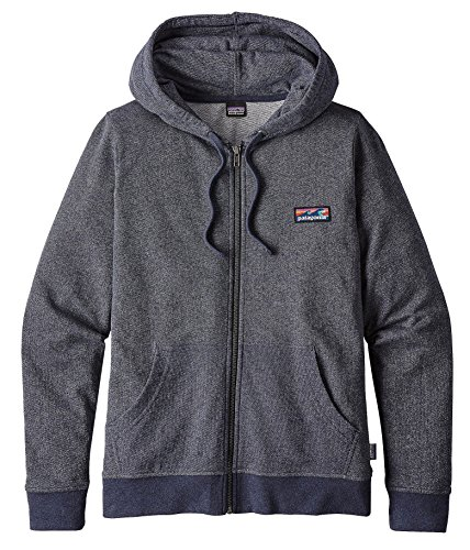 Patagonia Women's Board Short Label Lightweight Full Zip Hoodie (S, Smolder Blue) by Patagonia