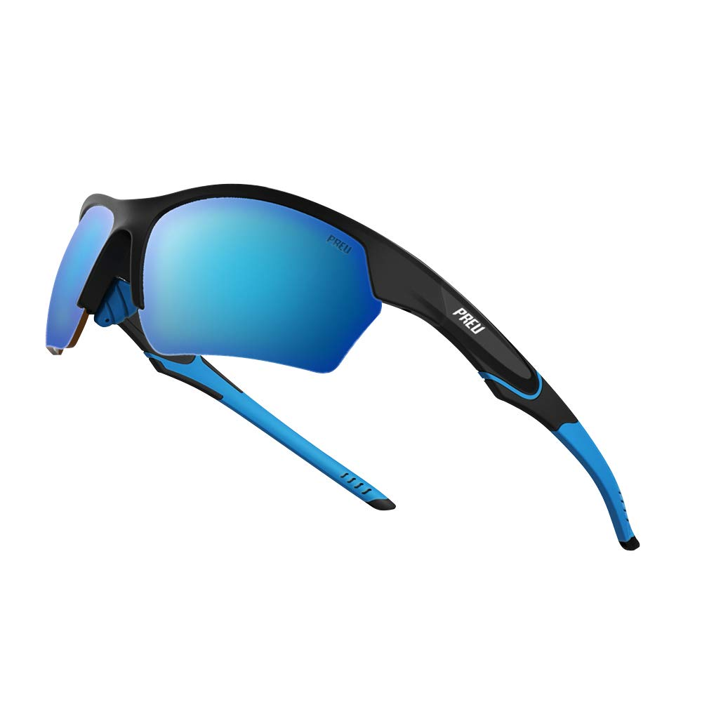 PREU Fashion Polarzied Sports Sunglasses for Women Men,Driving Running Cycling Golf Baseball Grasses HN095