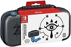 RDS Industries, Inc Nintendo Switch Game Traveler Deluxe Travel Case- Zelda Breath of the Wild - Sheikah Eye - Grey