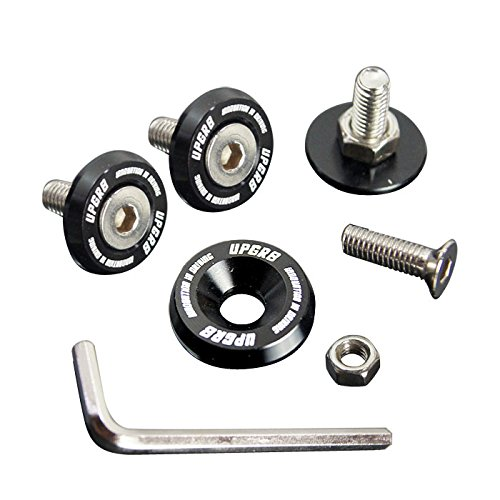Upgr8 U8201-1004 Aluminum 10mm 4 Pieces Fender Washer Kit (Black) ()