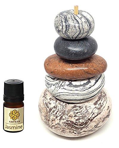 Aromatherapy Essential Oil Zen Rock Balancing Stacking Stone Diffuser (Jasmine)