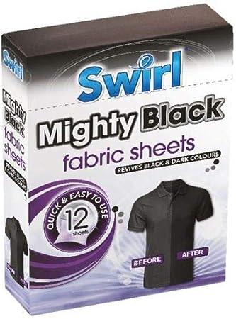 Swirl 12 Hojas de Tela Negra Mighty: Amazon.es: Hogar