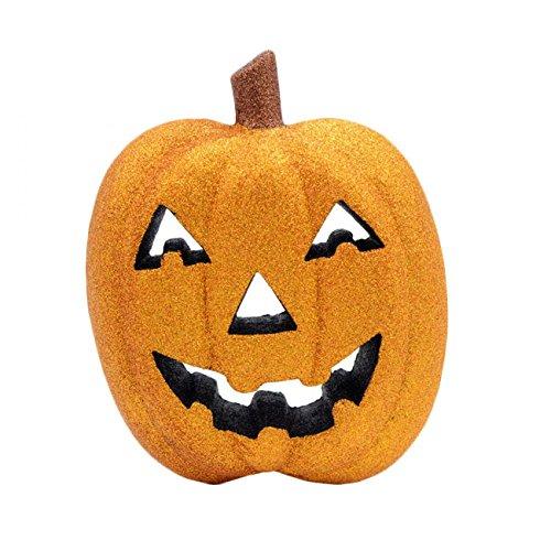 Craig Bachman Sparkling Glitter Pumpkin Head Styrofoam Decoration: Halloween, Fall Decorations (Orange) -