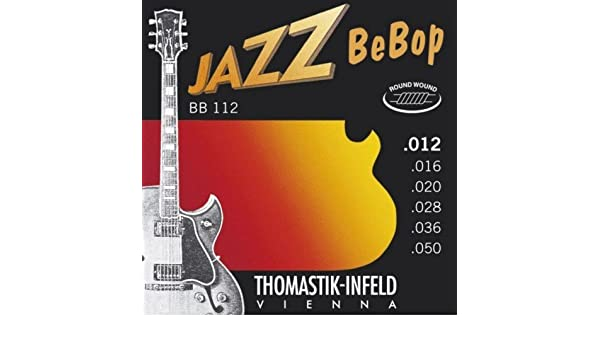 Amazon.com: CUERDAS GUITARRA ELECTRICA - Thomastik (BB112) Jazz Bebop (Juego Completo 012/050E): Musical Instruments