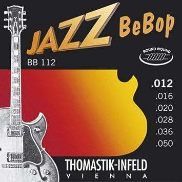 CUERDAS GUITARRA ELECTRICA - Thomastik (BB112) Jazz Bebop (Juego Completo 012/050E): Amazon.es: Instrumentos musicales