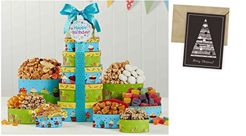 Best Wishes Gift Basket for Birthday and personalized card mailed seperately, CD3239508