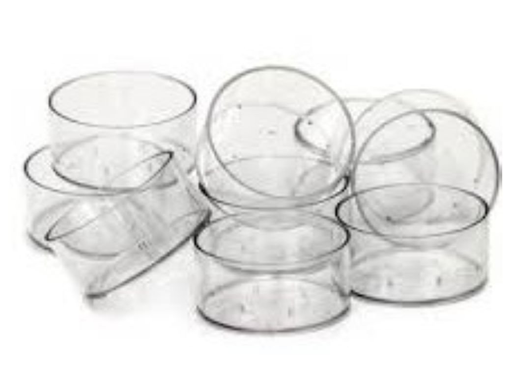 50 x Empty Clear Polycarbonate Tealight Cups. . . 19mm Non-Stackable. . . (38mm x 19mm) Fragrancia