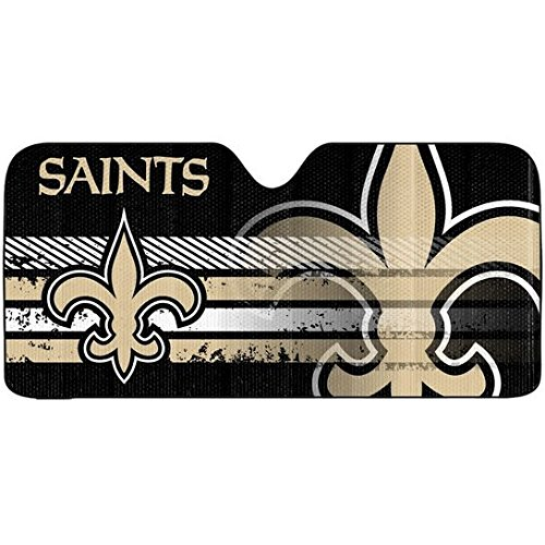 1PC Officially Licensed NFL New Orleans Saints Gold Logo Sunshade ()