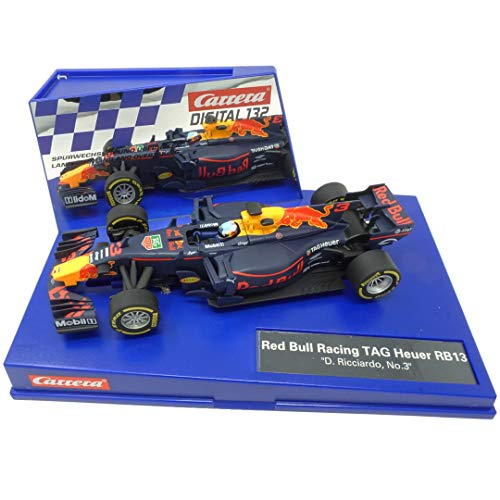 (Carrera 20030819 30819 Red Bull Racing Tag Heuer RB13 D. Ricciardo No. 3 1: 32 Scale Digital 132 Slot Car Racing Vehicle, Blue)