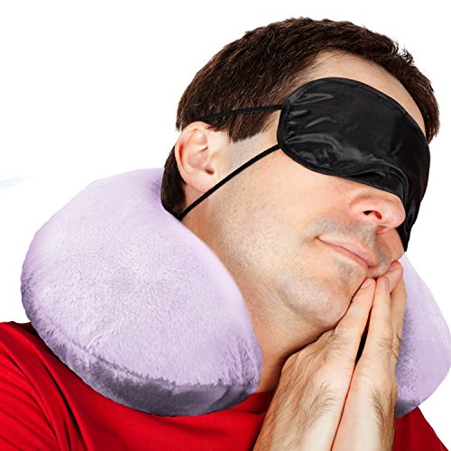 Comfort Master Travel Pillow with Elastic Strap for Travel, Home, Neck Pain...