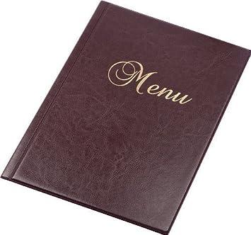 Carta Menú de Mesa Rojo Rubí Restaurante Pub Hotel Catering ...