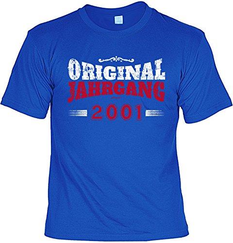 T-Shirt - Original Jahrgang 2001 - lustiges Sprüche Shirt als Geschenk zum 16. Geburtstag