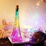 Eiffel Tower Copper Bottle LED Light String Night Lamp,Colorful Star Romantic Night Light for Birthday Gift by Rambling