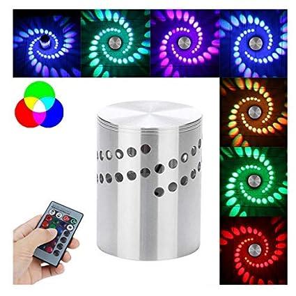 Staron - Bombilla LED RGB con agujero en espiral para pared, control remoto, colorido, RGB, agujero en ...