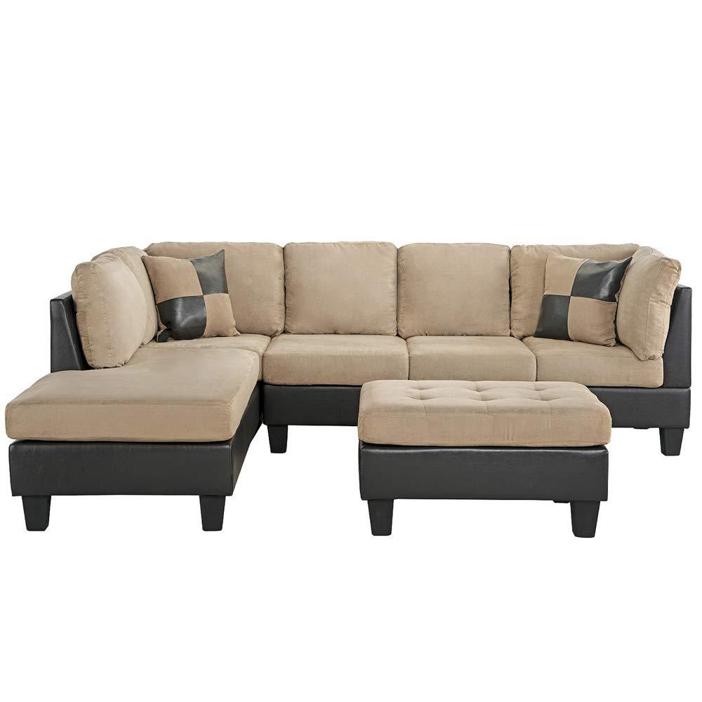 Amazon.com: Casa Andrea - Juego de sofá y otomano de 3 ...