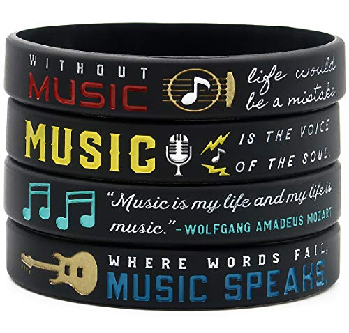 (Inkstone Music Inspirational Bracelets with Quotes and Sayings About Music - Jewelry Accessories Gifts for Musicians Music Teachers Students)