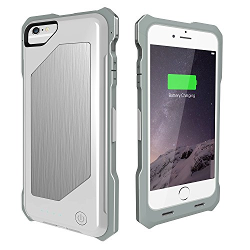 Powercases Rugged Battery Case for iPhone 6/6s/7 (White)