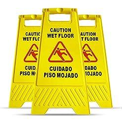 MYSBIKER Caution Wet Floor Sign, 3 Pack ...