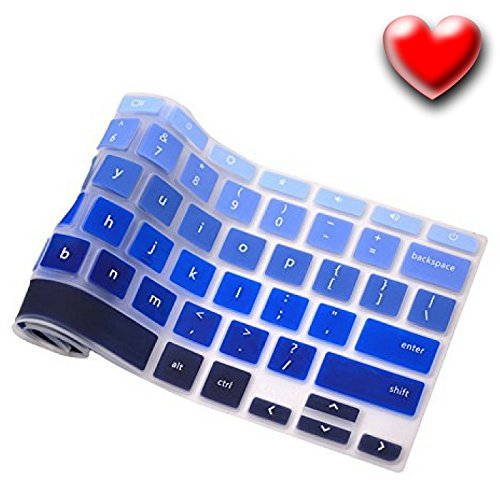 Keyboard-Cover-For-Acer-Chromebook-14-inch-Chromebook-CB3-431-CP5-471-Silicone-Skin-Laptops-Accessories-By-Casiii-14-Ombre-Blue