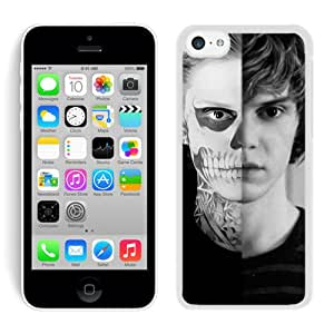 Evan Peters 2 White Hard Shell iPhone 5C Phone Case