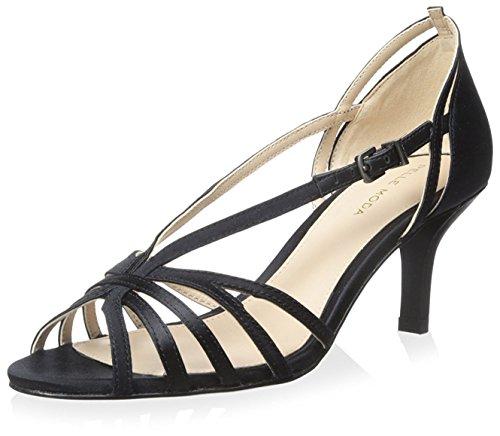 Donna Moda Pelle Sandalo Charli Nero qxOFw6n7