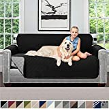 Sofa Shield Original Patent Pending Reversible Furniture Sofas Slipcover, Dogs, 2 Inch Elastic Strap Hook, Machine Washable Furniture Protectors, Slip Cover Throws for Pets, Kids, Cats