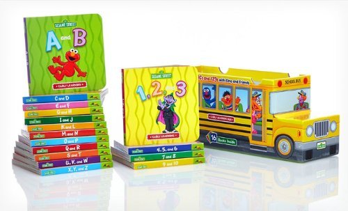 Elmos 123s - Sesame Street ABCs and 123s with Elmo and Friends 16 Book Bus