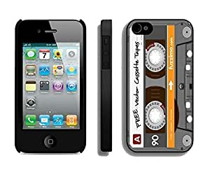 Cute Apple Iphone 4s Case Durable Soft Silicone Rubber Retro Audio Cassette Cell Phone Case Cover for Iphone 4