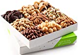 Holiday Mixed Nuts Gift Basket, Gourmet Mix of Assorted Fresh Nuts Food Tray for Christmas Prime Holiday Delivery, Mothers & Fathers Day, Birthday, Sympathy, Corporate Gift Box, By Nut Cravings For Sale