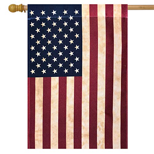 (Briarwood Lane Tea Stained American House Flag American Flag 28