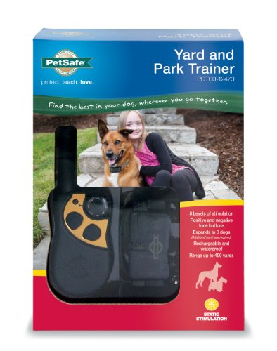 PetSafe Yard & Park Rechargeable Dog Training Collar with Tone and Static Correction, Waterproof, Up to 400 Yards