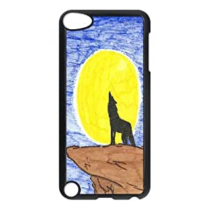 Wolf with moon,sunset series Case Cover Best FOR Ipod Touch 5 FKLB-T518466